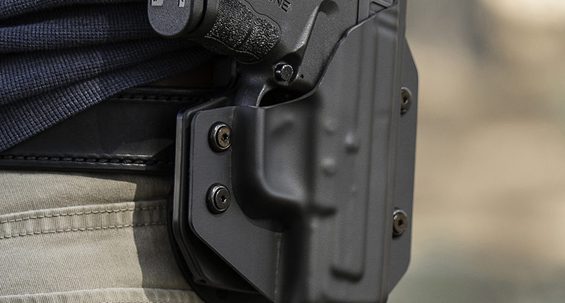 Evolution of pistol holsters, from thermo formed to injection