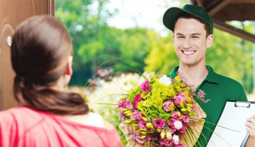 Why is offering flowers ideal for expressing feelings?